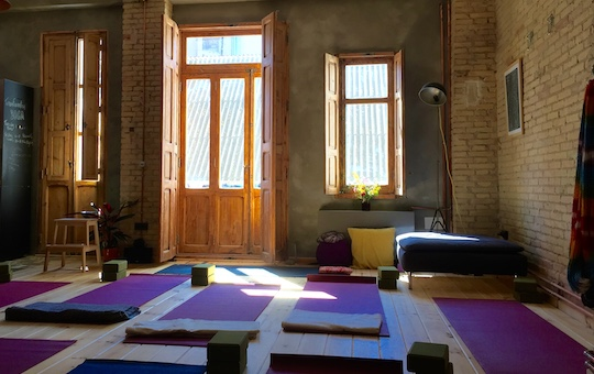 Yoga studio in Ruzafa, Valencia.